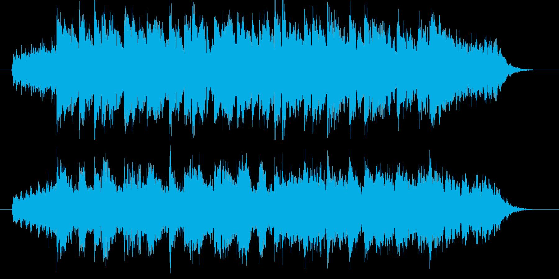 明るく優しいシンセサウンド短めジングルの再生済みの波形