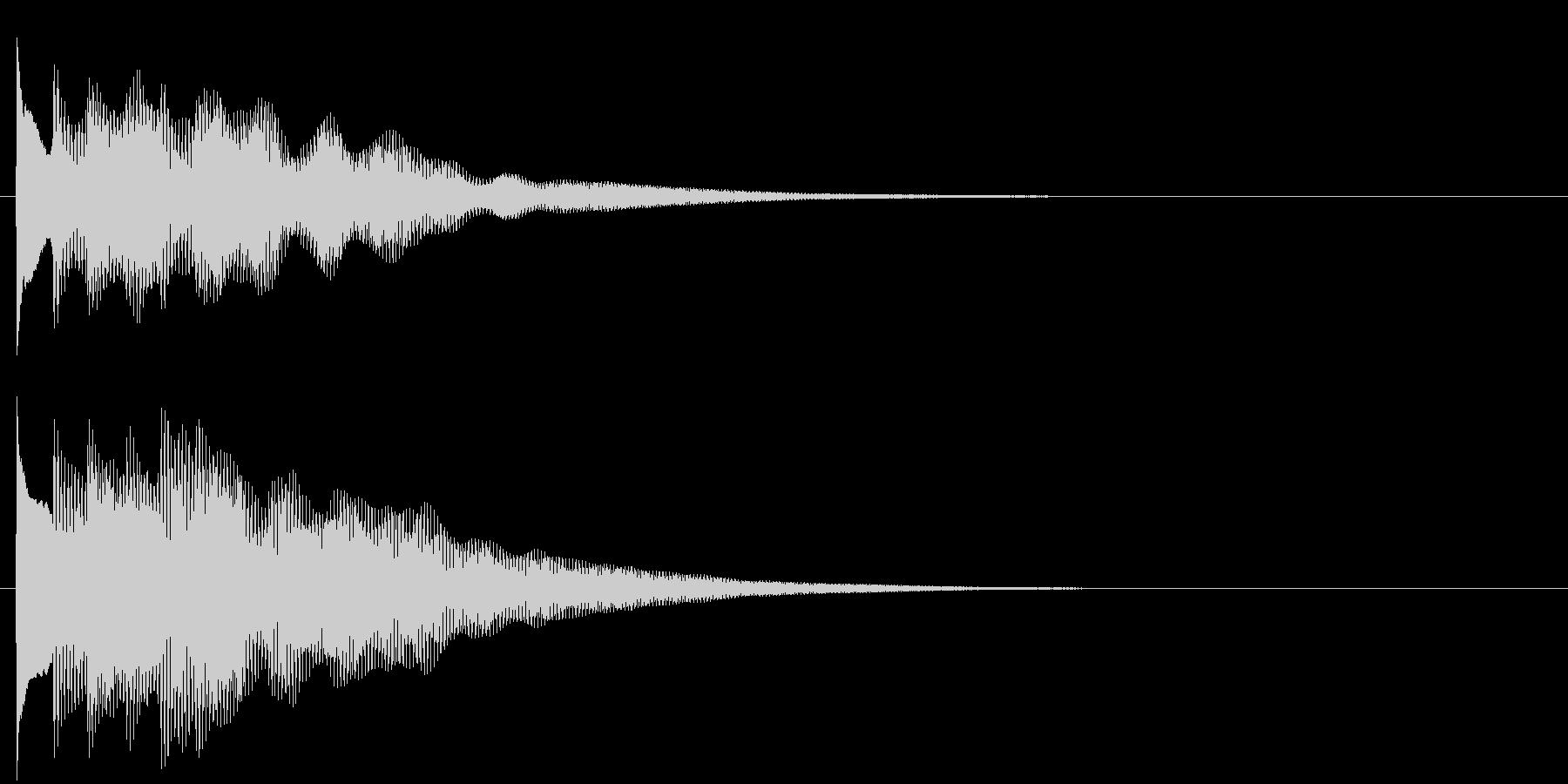 フレーズ系06 文字、スーパー表示(中)の未再生の波形