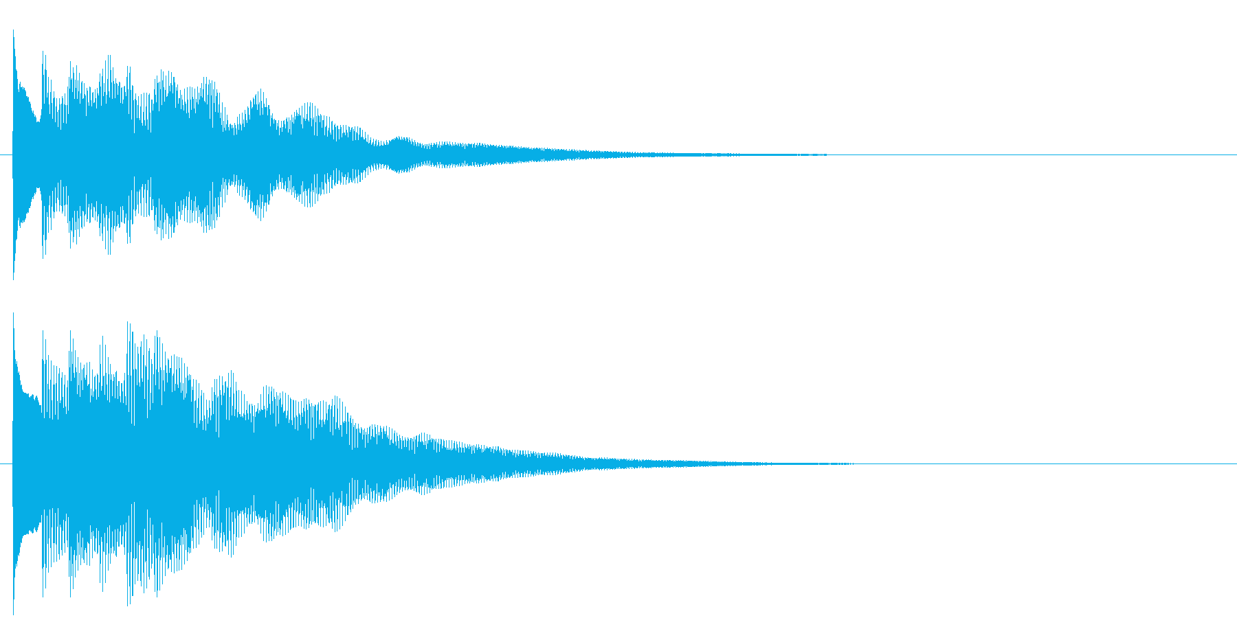 フレーズ系06 文字、スーパー表示(中)の再生済みの波形