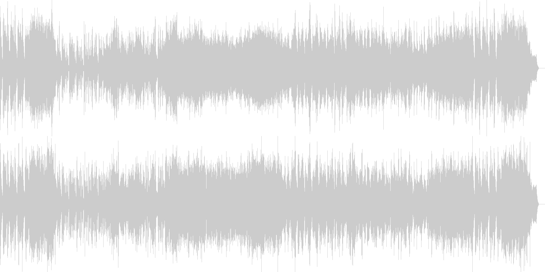 タンゴ調のバンドネオン、ピアノ協奏曲の未再生の波形