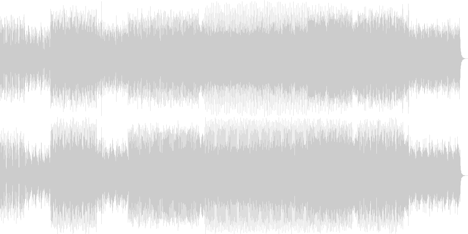 ドキドキ感のシンセポップハウス系の未再生の波形