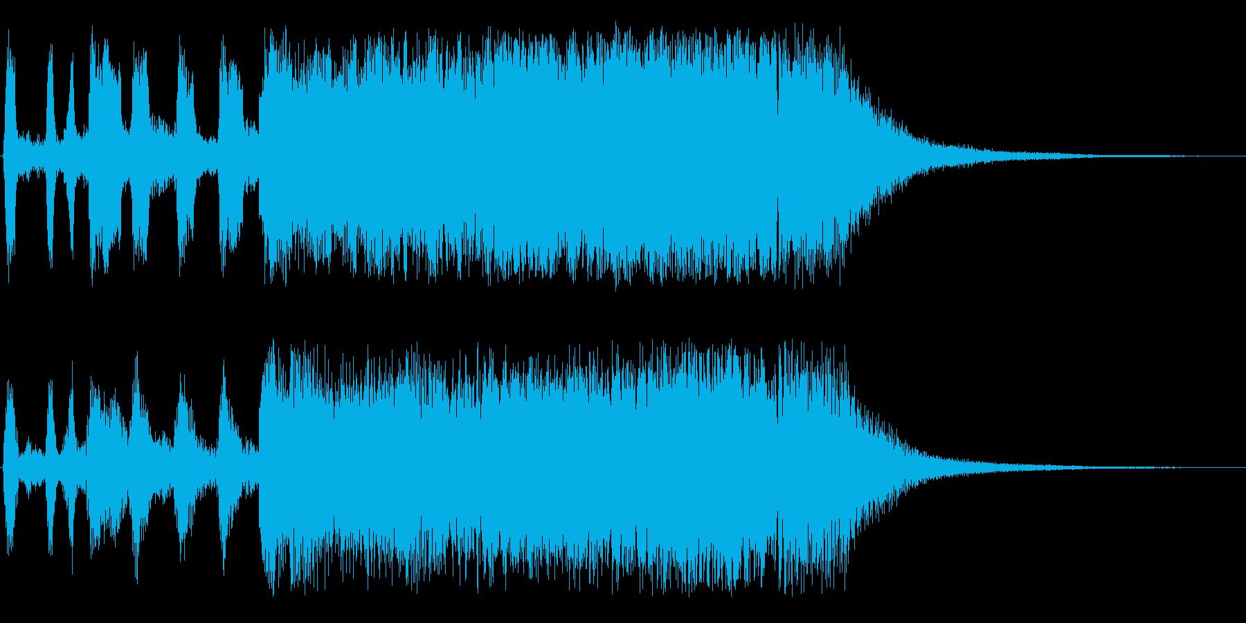 ブラスのファンファーレの再生済みの波形