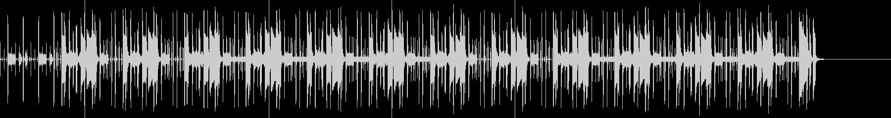 クイズ番組で考え中に流れるファンクの未再生の波形