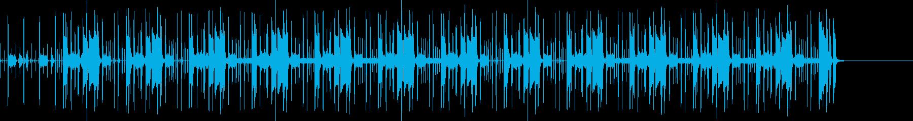 クイズ番組で考え中に流れるファンクの再生済みの波形