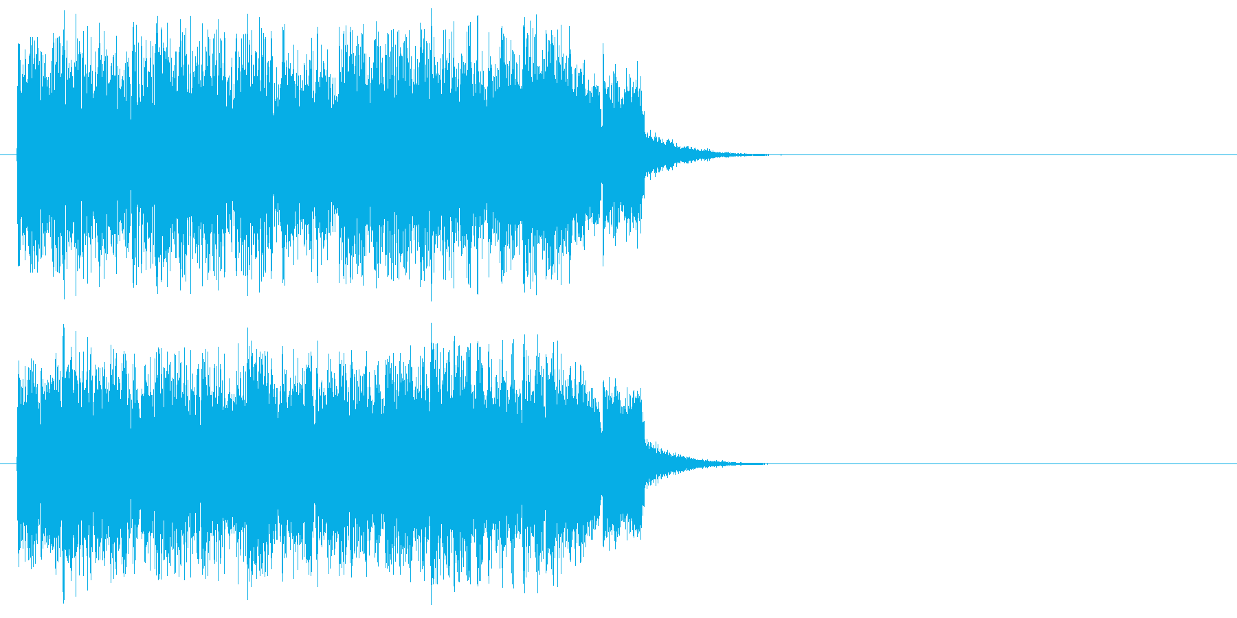 ジングル(どきどきの場面転換)の再生済みの波形