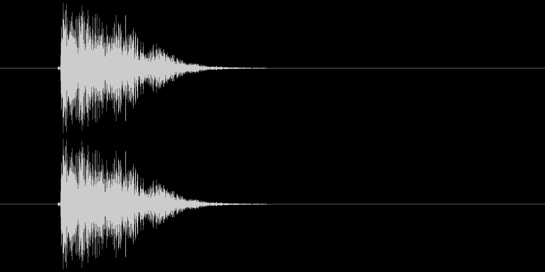 キュイン(選択、決定、金属的)の未再生の波形