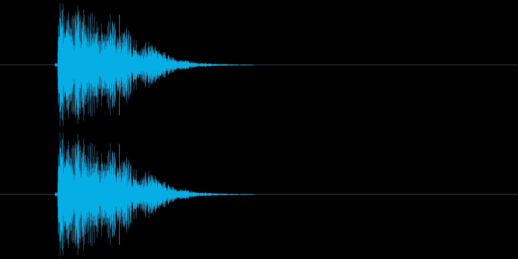 キュイン(選択、決定、金属的)の再生済みの波形