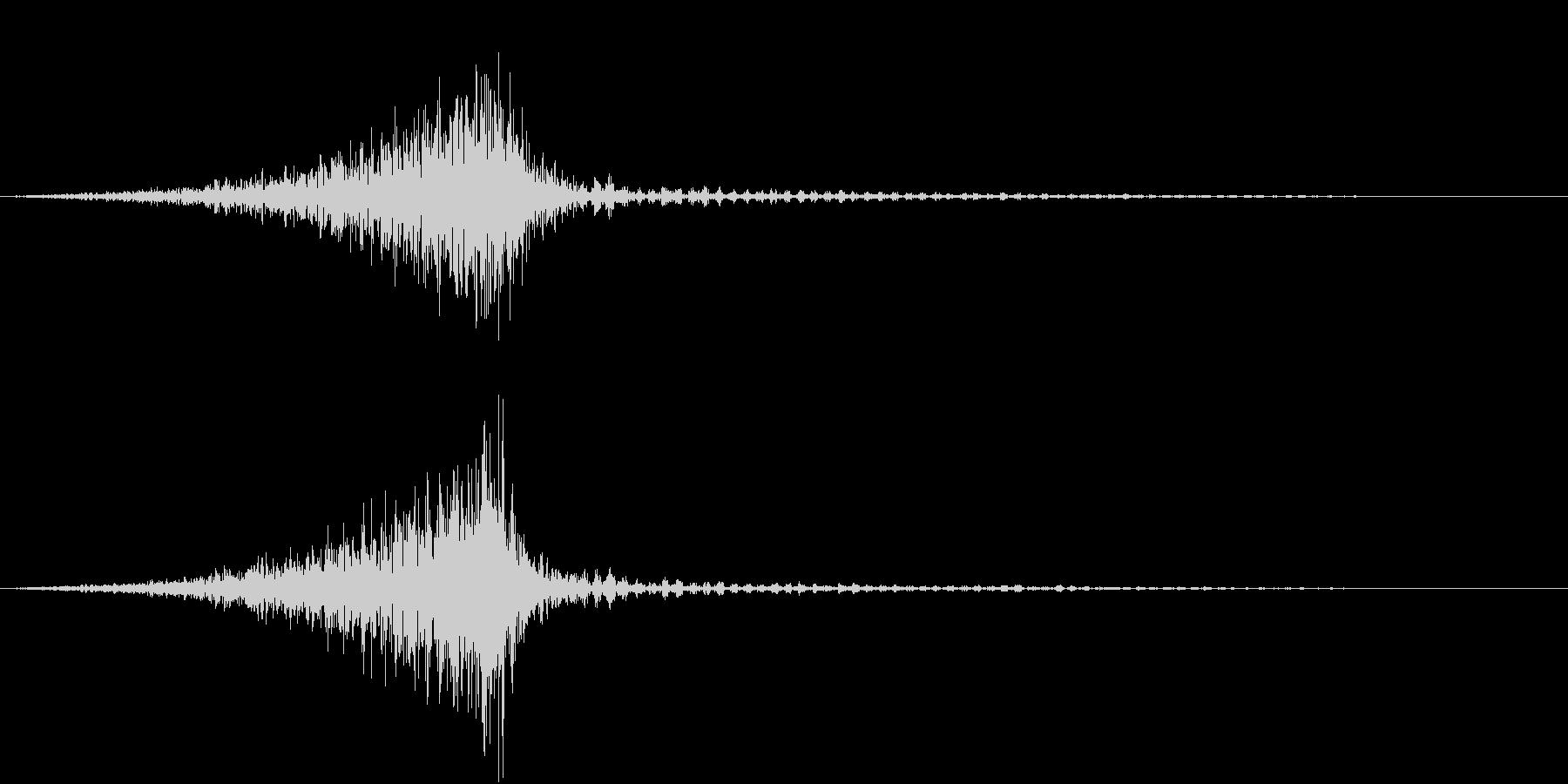 衛星の音の未再生の波形