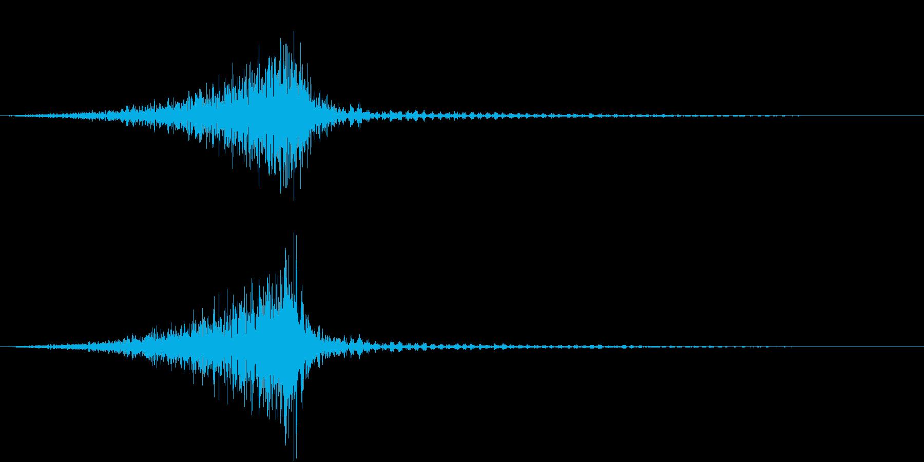 衛星の音の再生済みの波形