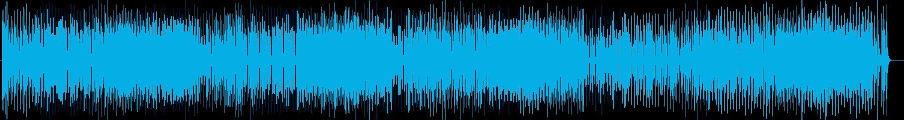ポップで軽快なシンセポップスの再生済みの波形