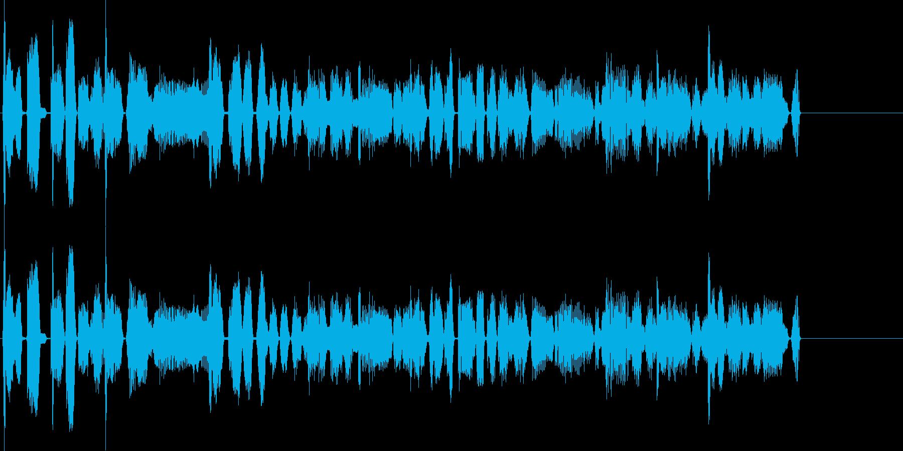 ファンクなジングル向けBGMの再生済みの波形