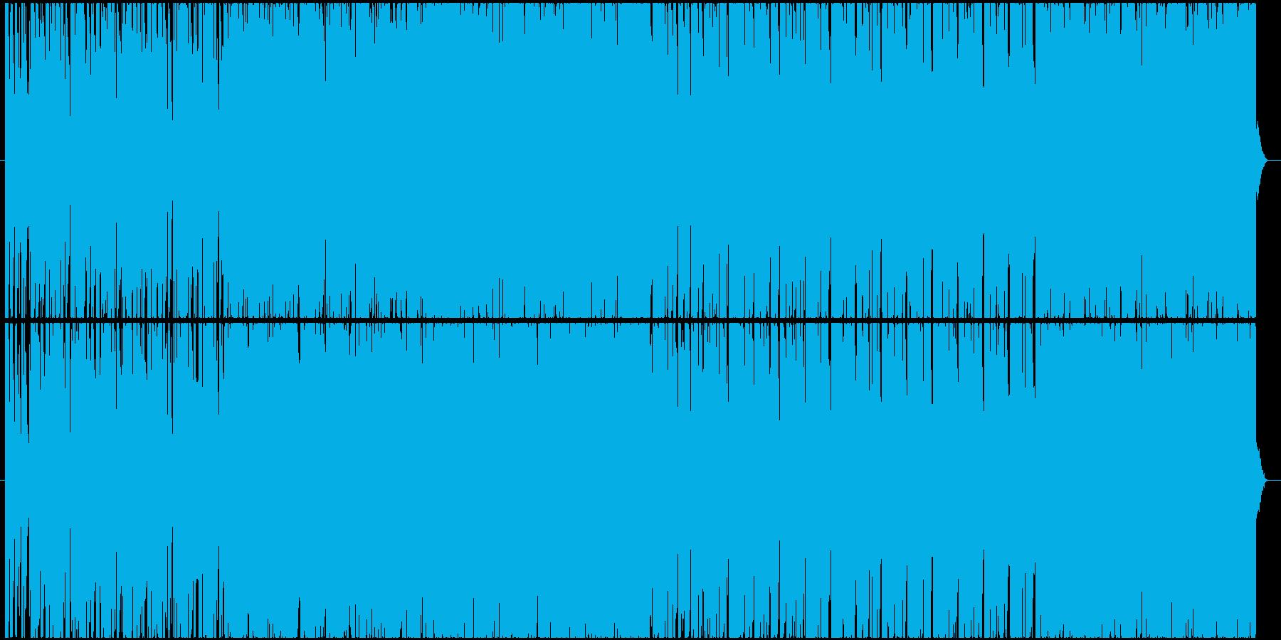 近未来的なキラキラした安定感あるBGMの再生済みの波形