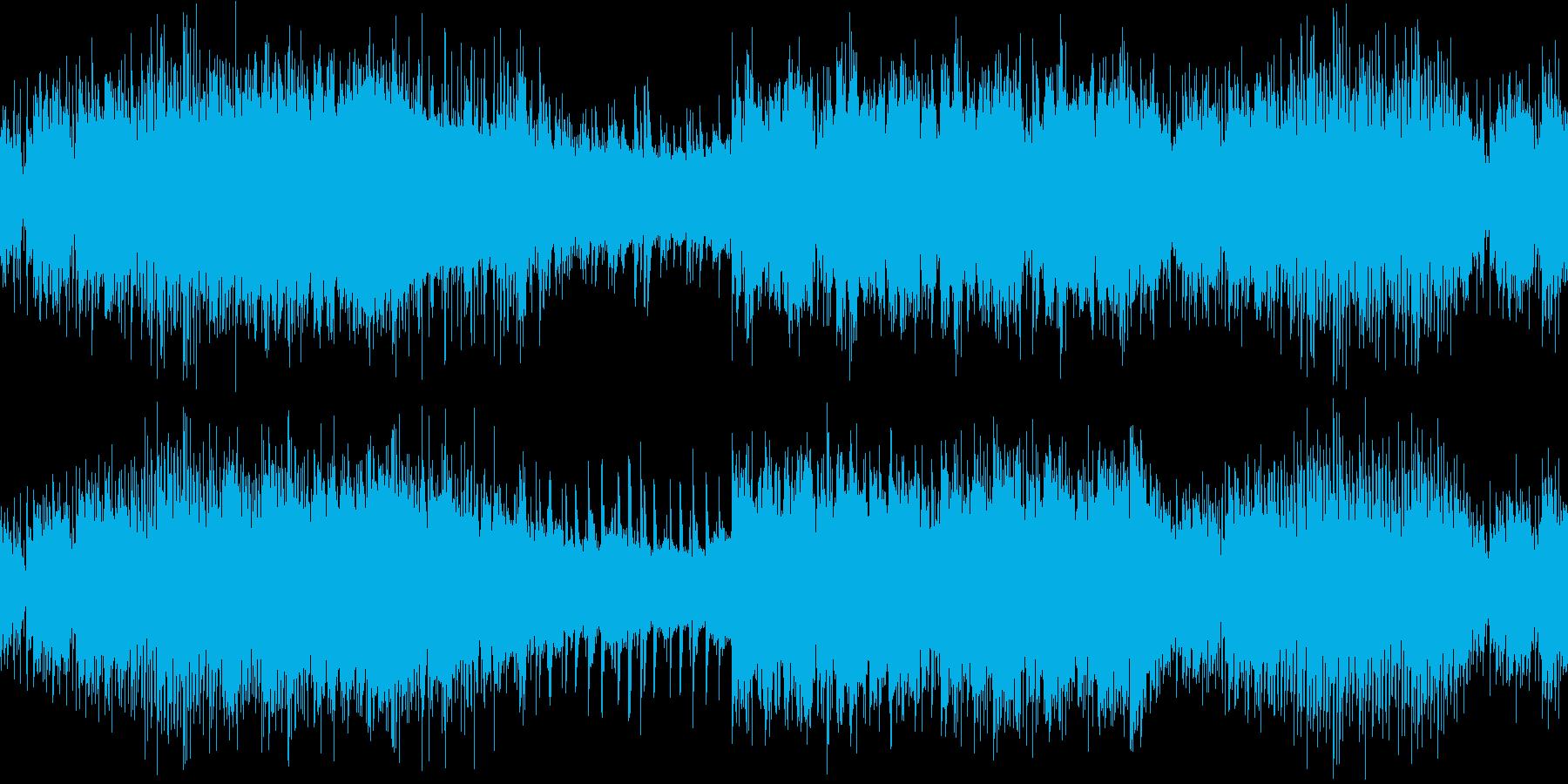 ダークでヘヴィ、重厚、光沢のあるロックの再生済みの波形