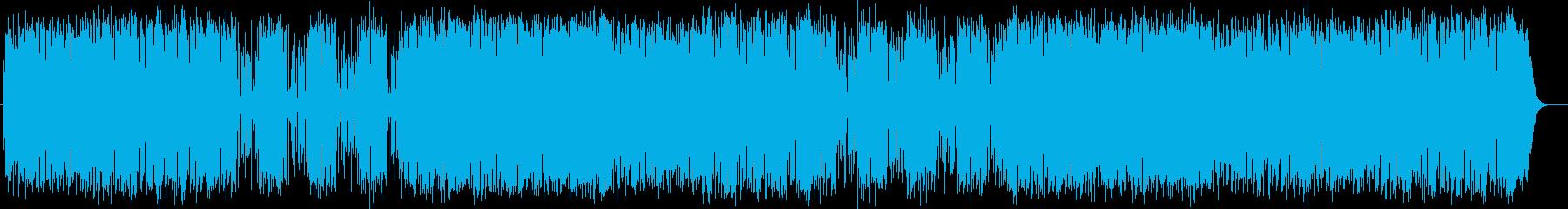 コミカルで軽快なポップミュージックの再生済みの波形