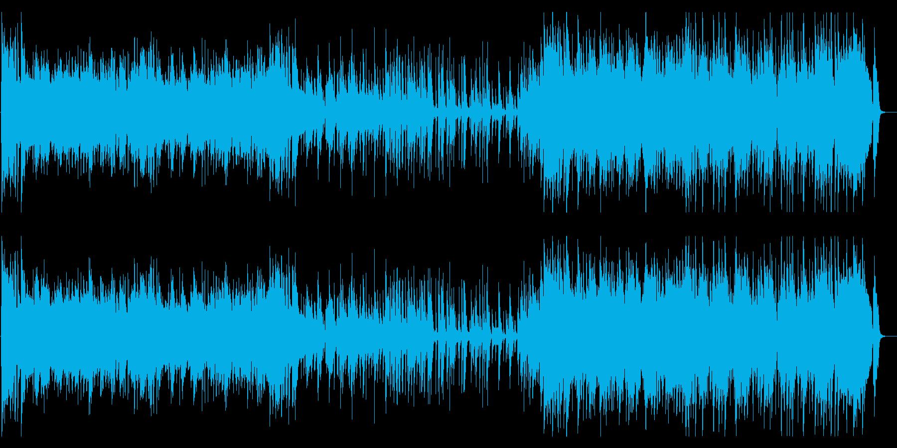 ブルース 陽気なジャズ風味 パーティーの再生済みの波形