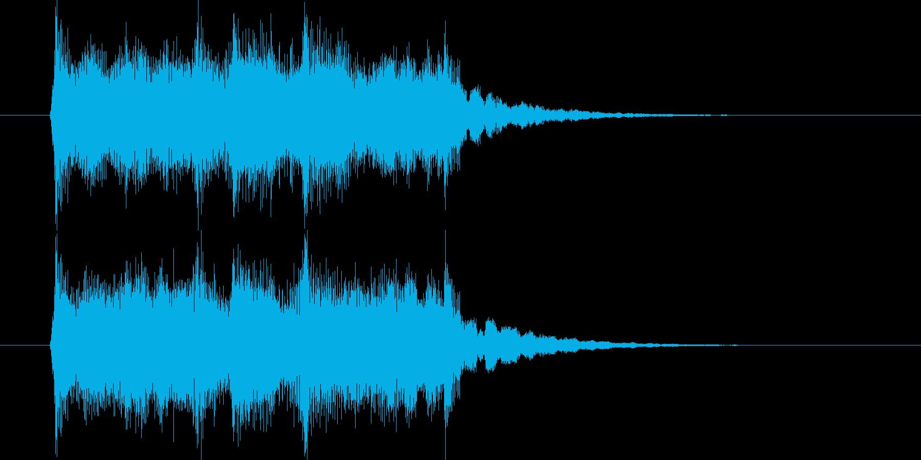ゆったりと優しいジングルの再生済みの波形