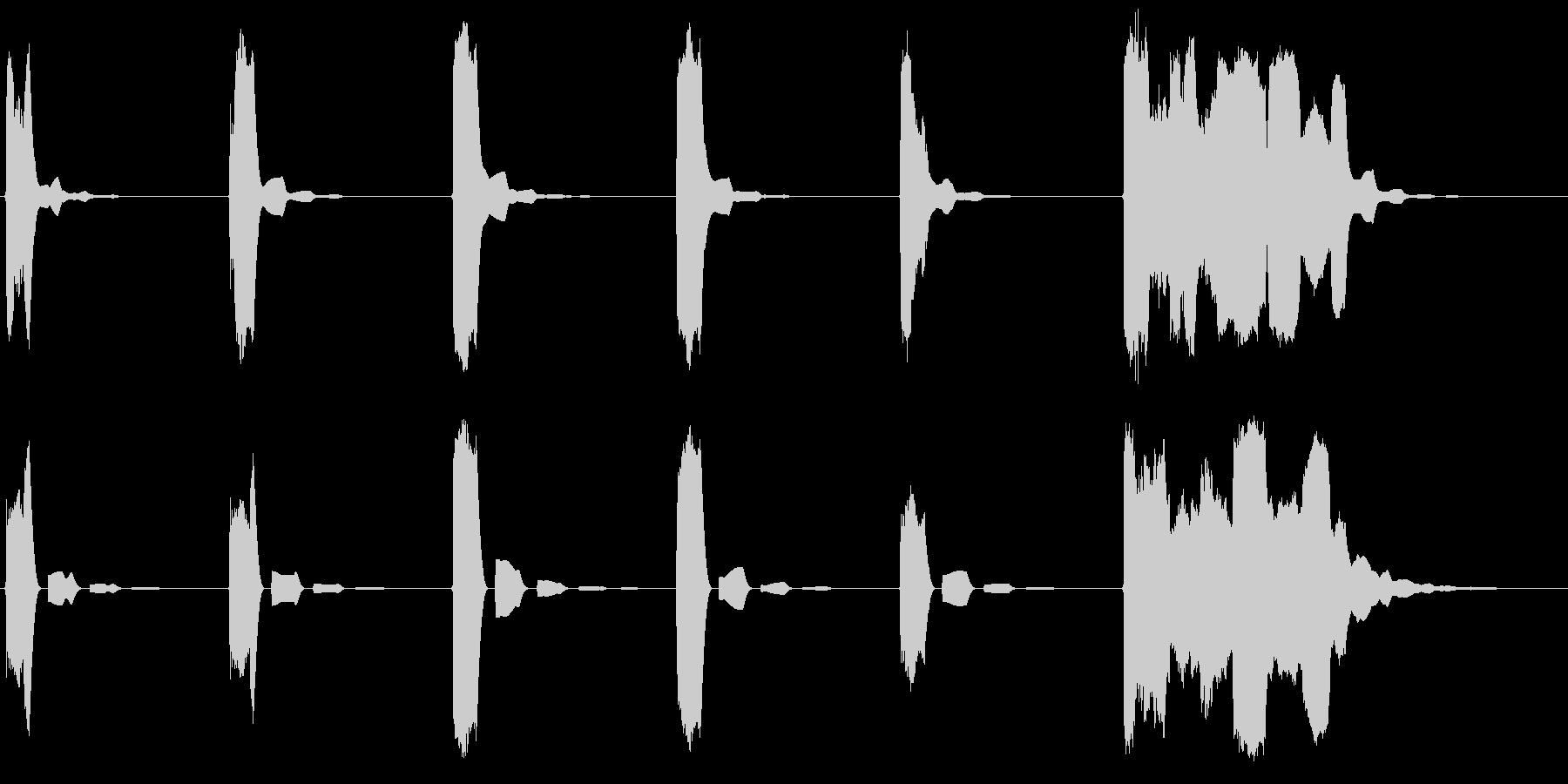 ピッピッピッピッピッポーンの未再生の波形