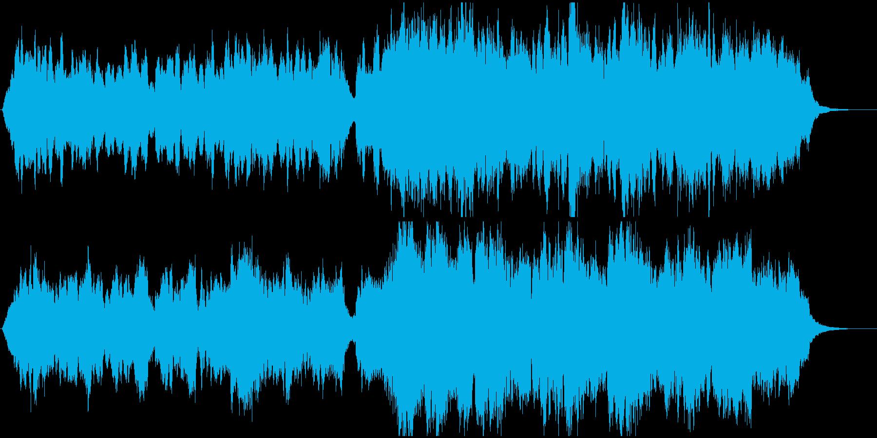 ゲーム用、オーケストラのオープニング楽曲の再生済みの波形
