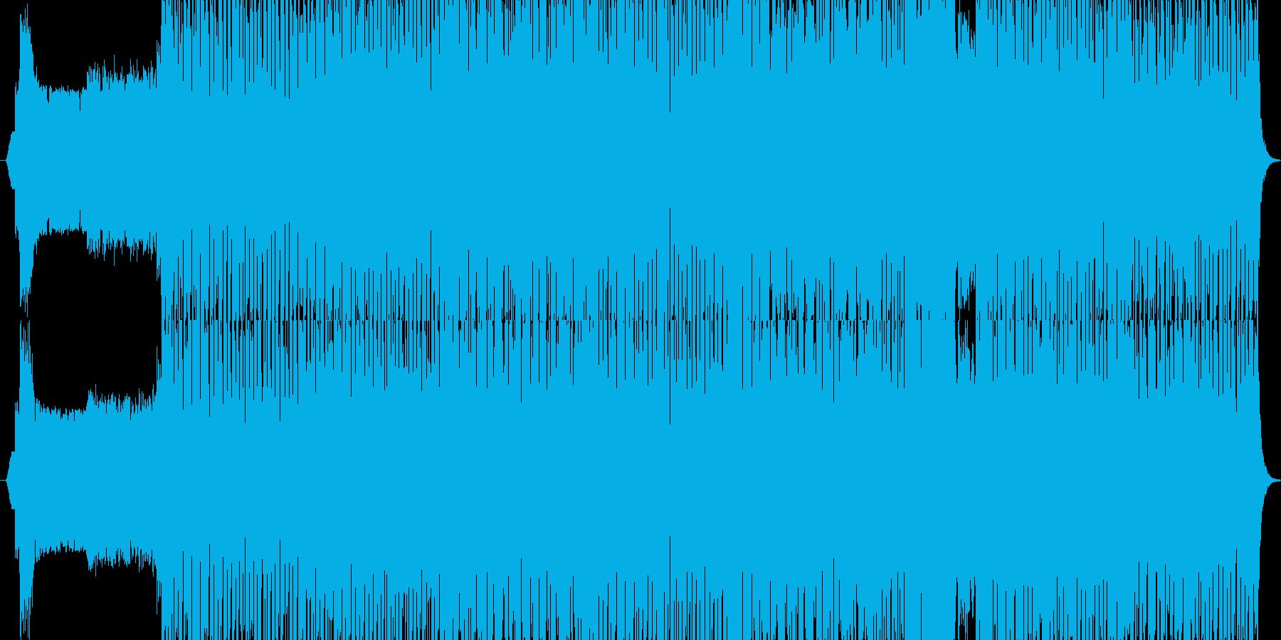 ハウスミュージック+EDMチューンの再生済みの波形