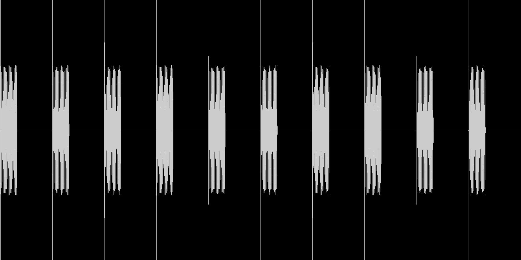 電話の呼び出し音(プルルル)の未再生の波形