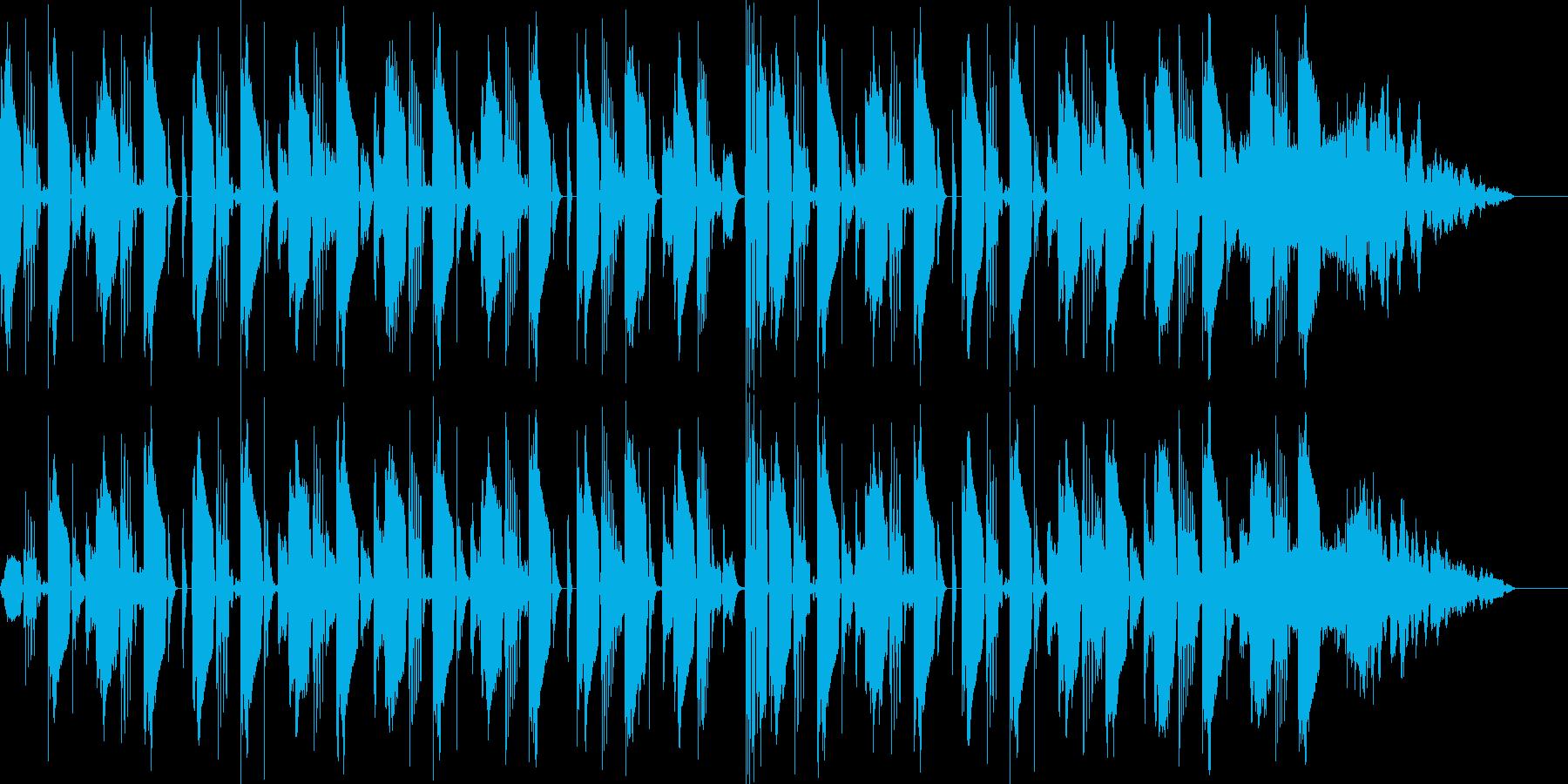 おしゃれで雰囲気があるテクノポップスの再生済みの波形