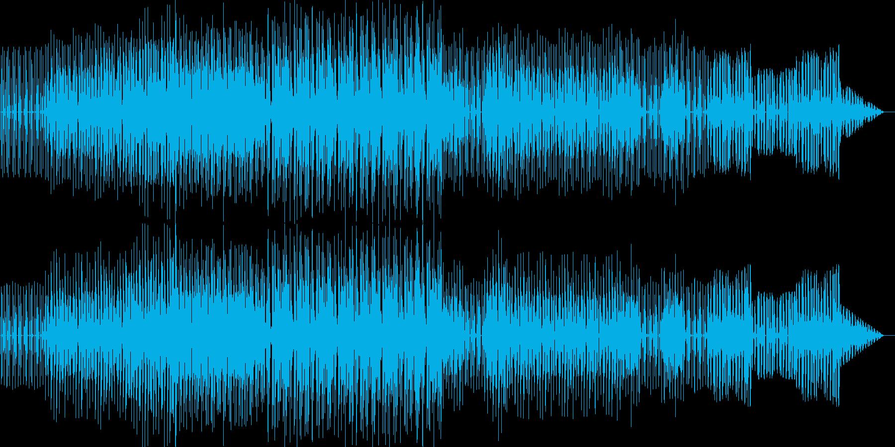 シンプルなベースハウスの再生済みの波形