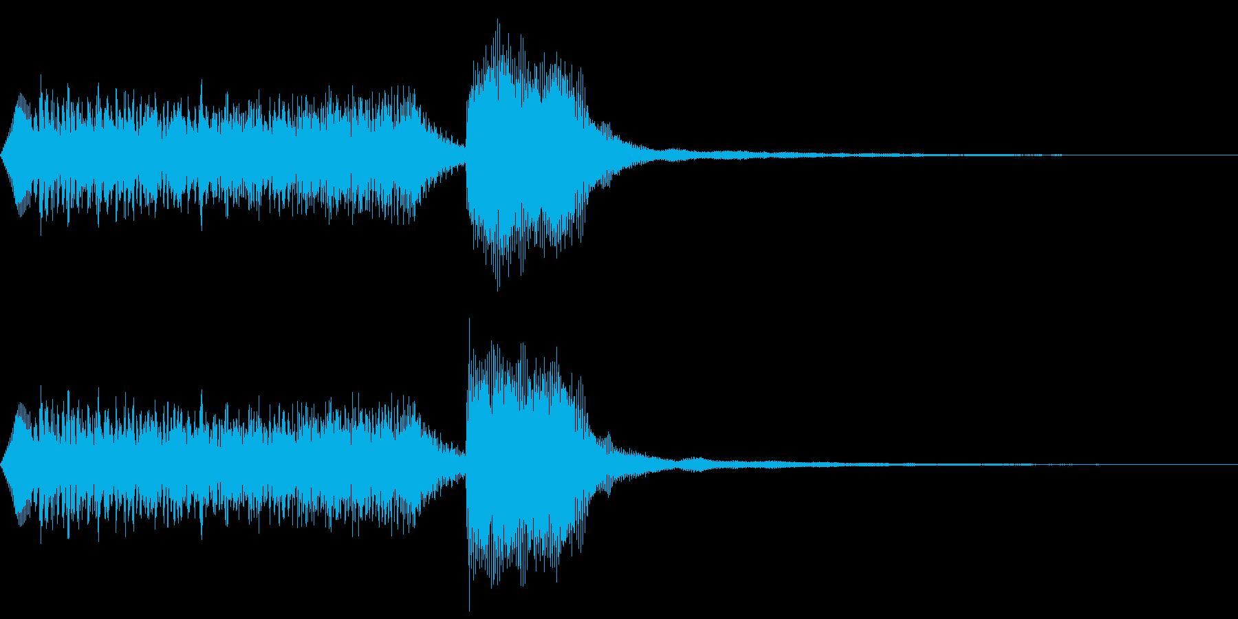 起承転結感ある効果音の再生済みの波形