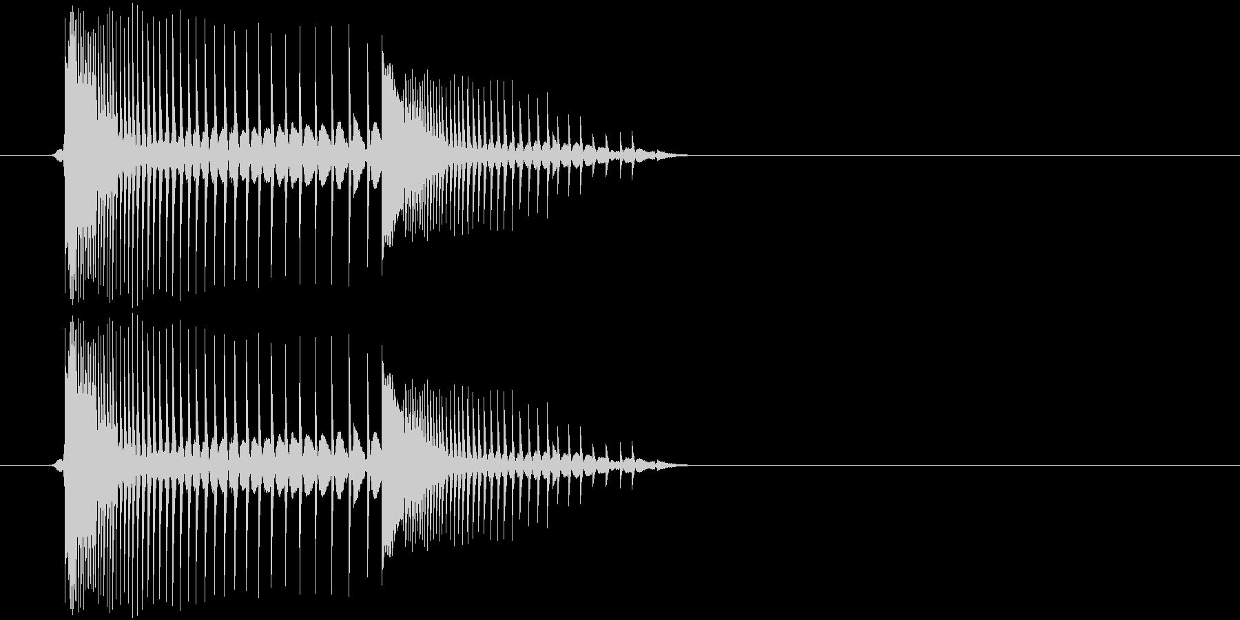 【アプリ/ボタン/チップチューン】の未再生の波形