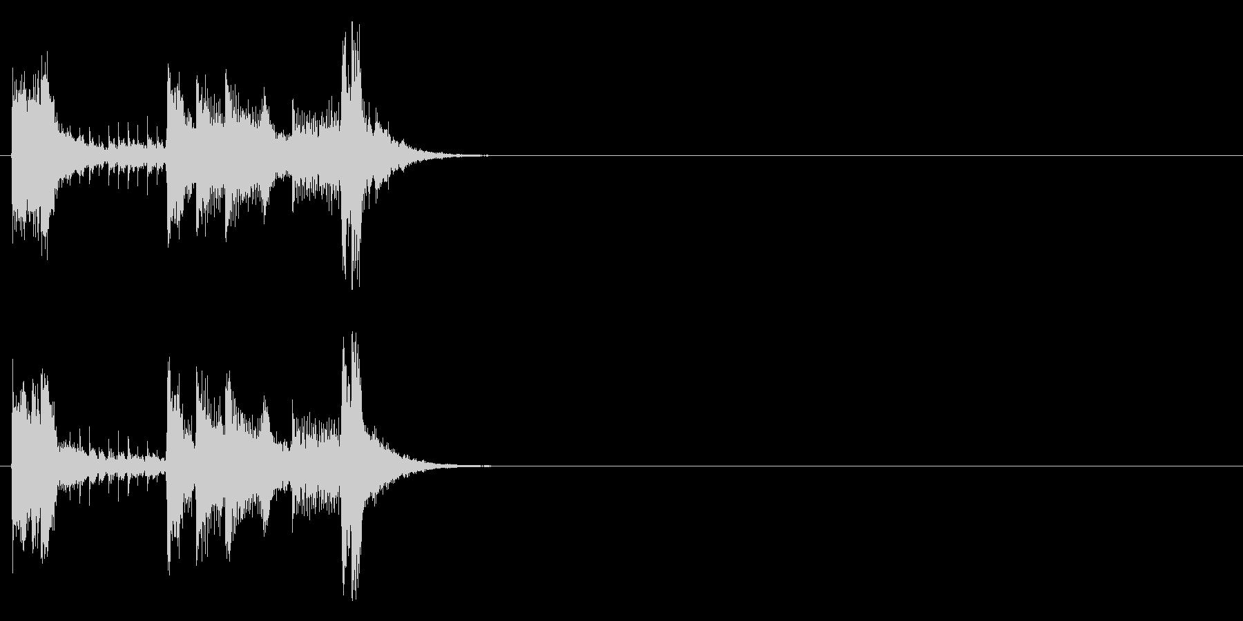 ジングル(フュージョン・タイプ)の未再生の波形