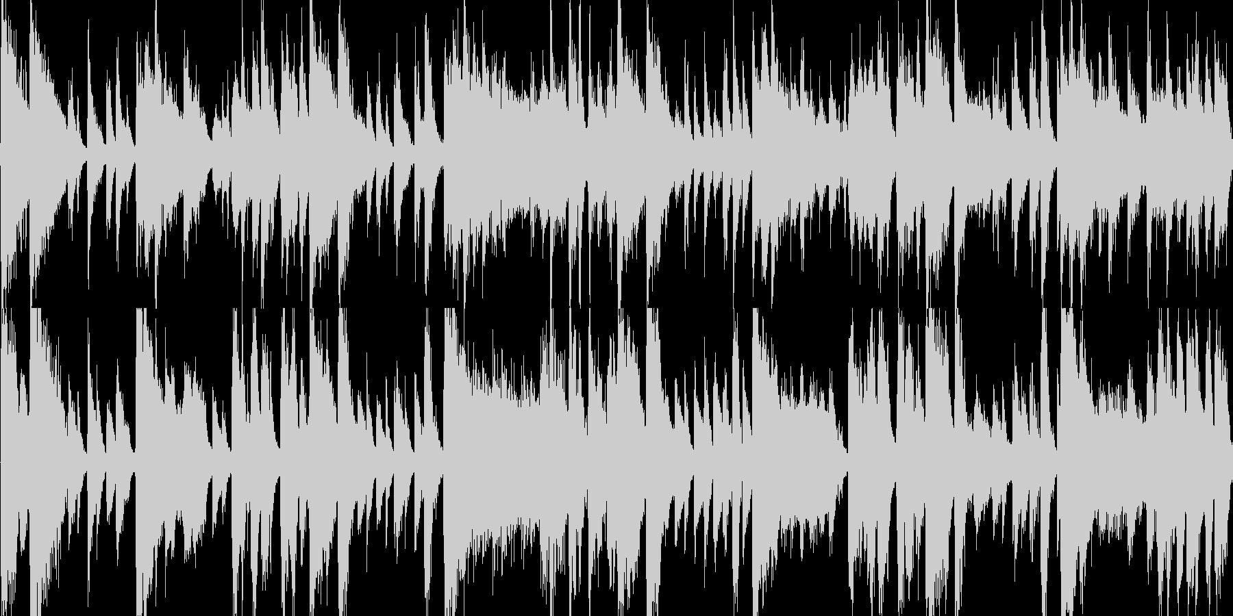 ラテン風の激しめなジングル_ループの未再生の波形