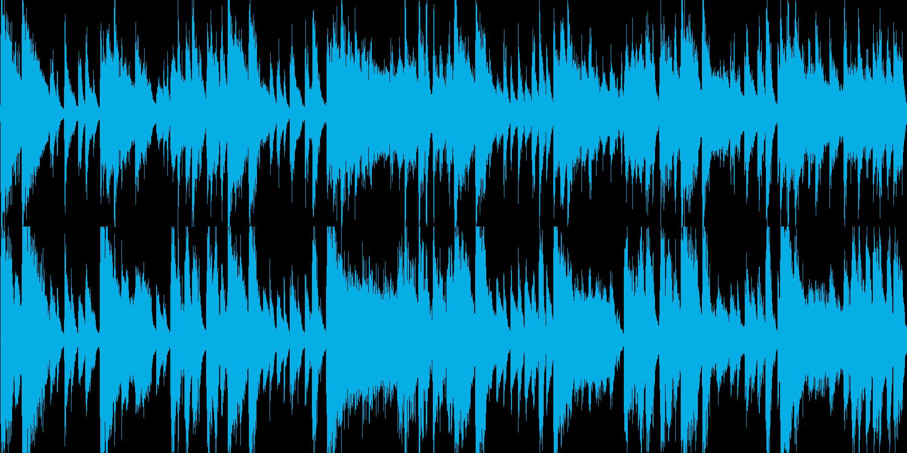 ラテン風の激しめなジングル_ループの再生済みの波形