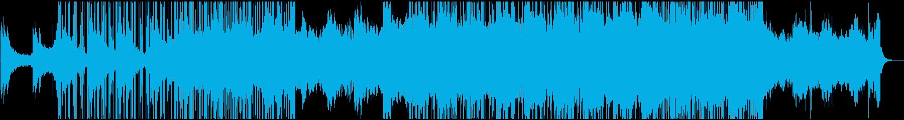 幻想的で浮遊感のあるダウンテンポの再生済みの波形