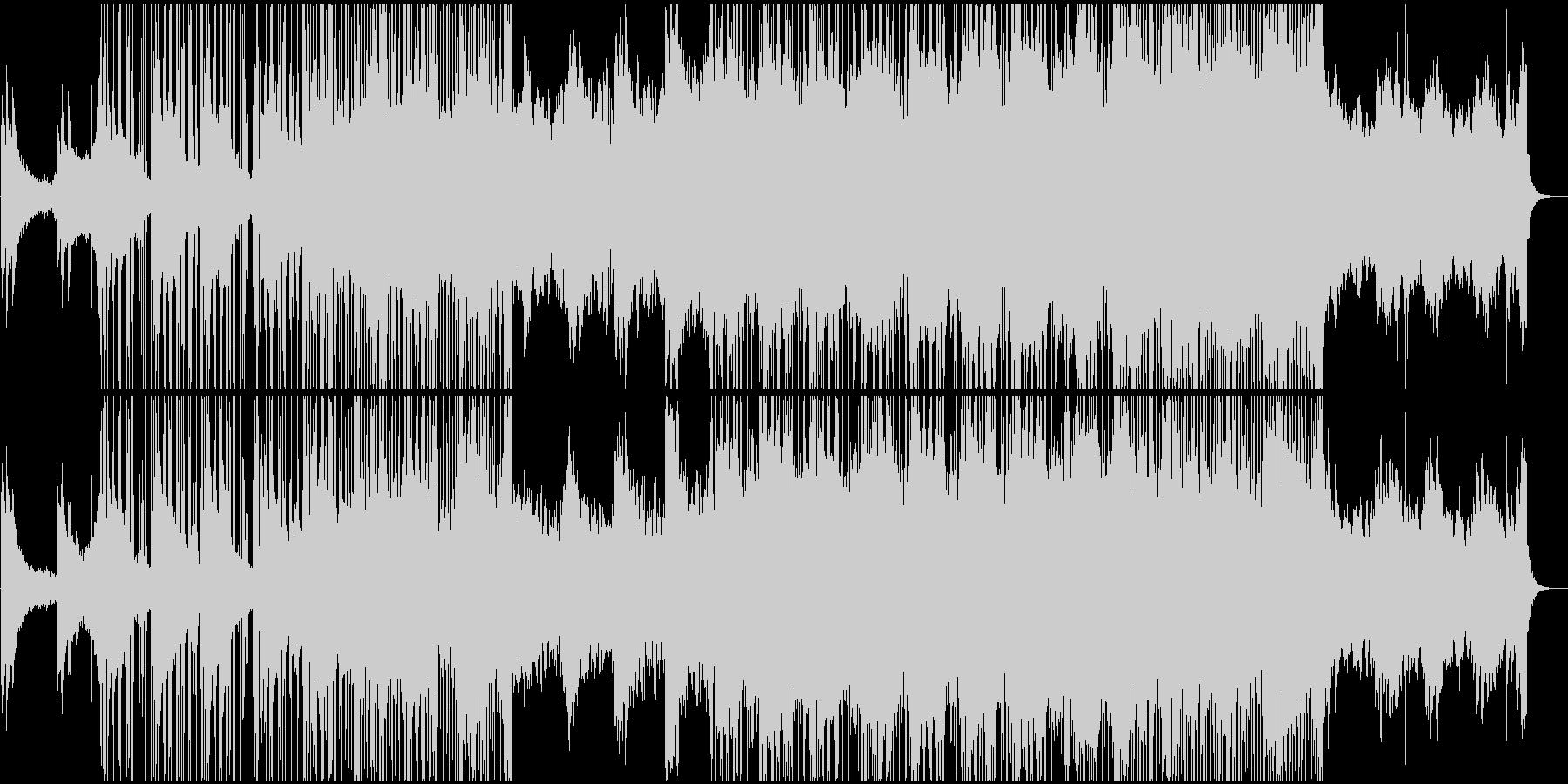 幻想的で浮遊感のあるダウンテンポの未再生の波形