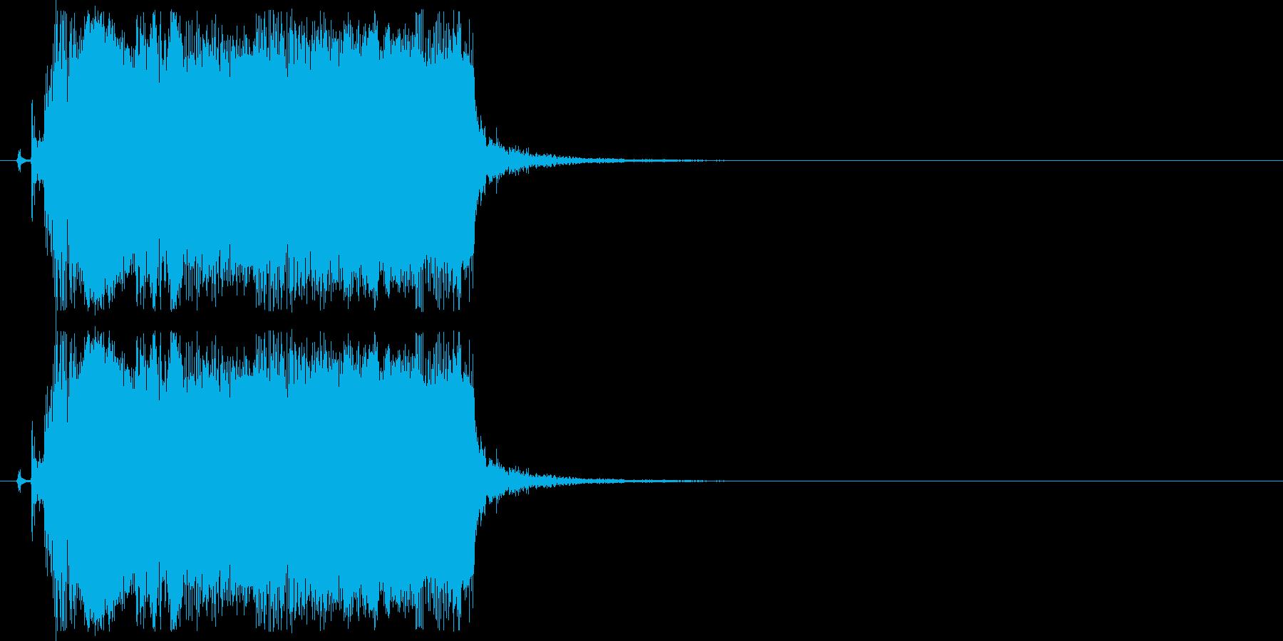 ギターフレーズ013の再生済みの波形
