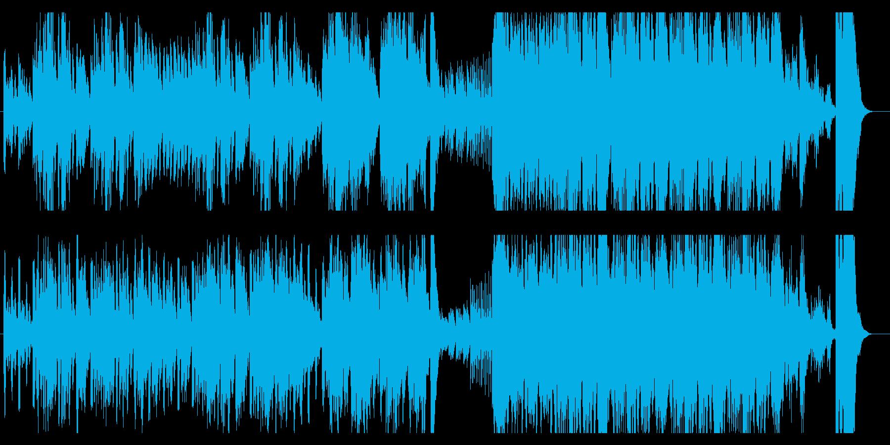 とぼけた雰囲気のあるオーケストラ曲の再生済みの波形