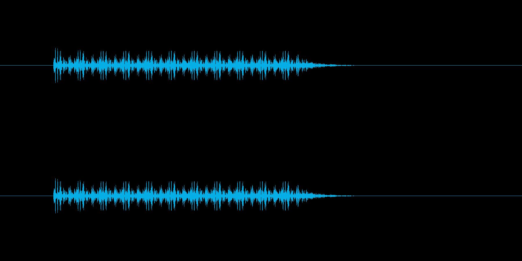 マシンガンなど連射系の銃声の再生済みの波形