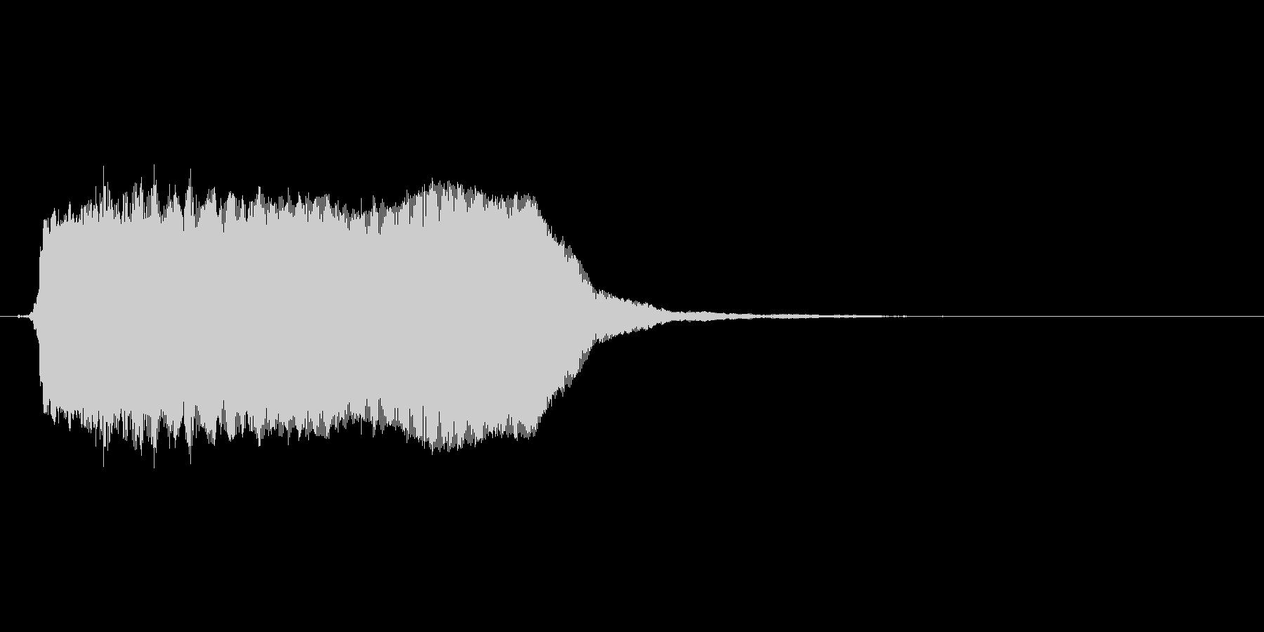ビーッ(アラート、警報、警告)の未再生の波形