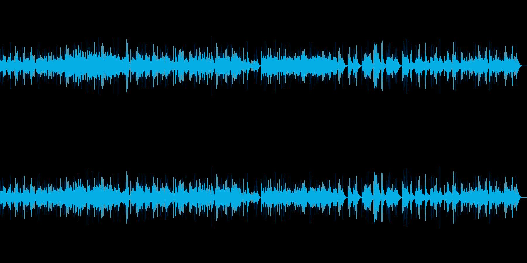 ほんわか優しい雰囲気のオルゴール曲の再生済みの波形