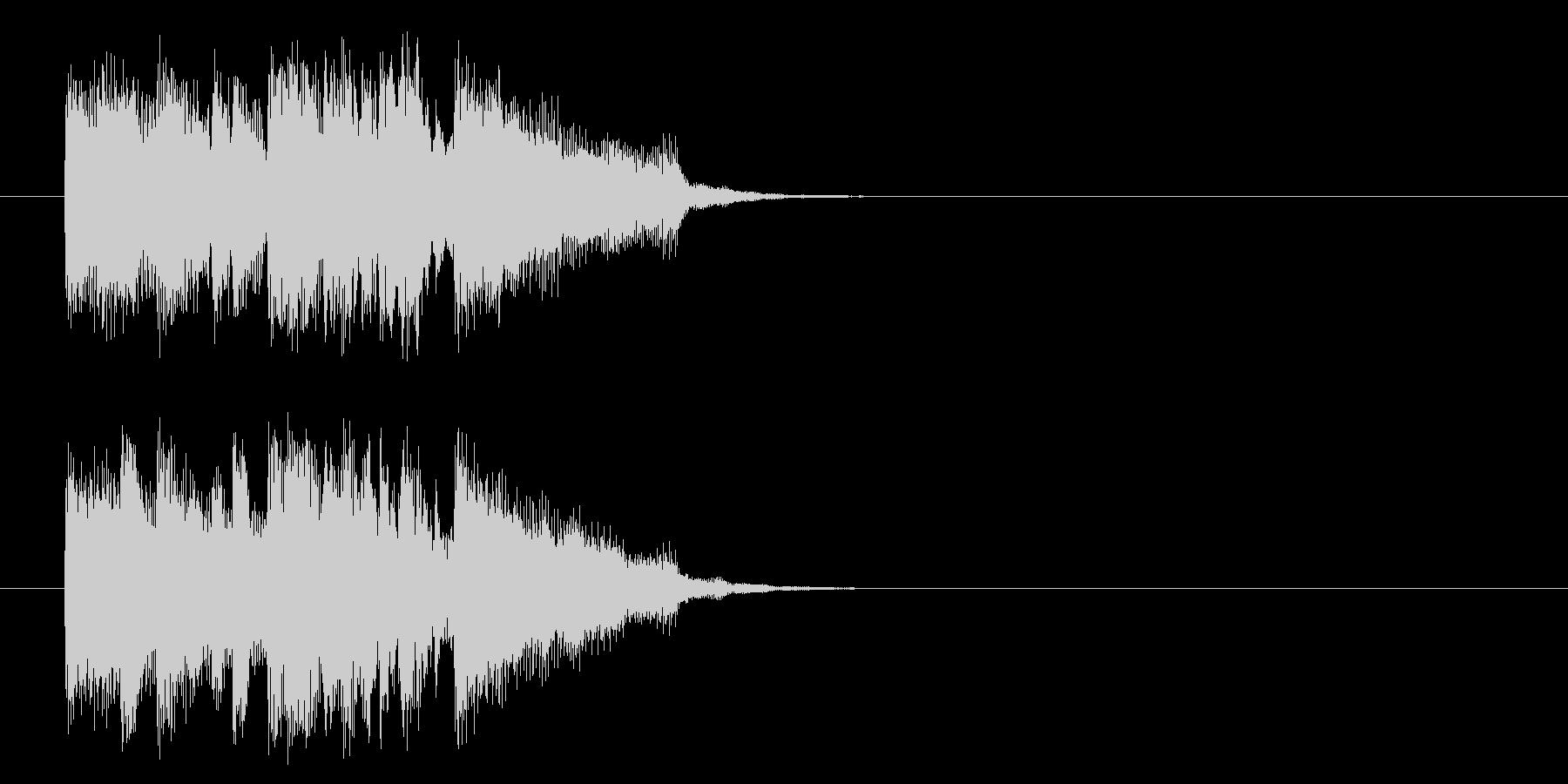 ジングル(軽やかポップ・フュージョン)の未再生の波形