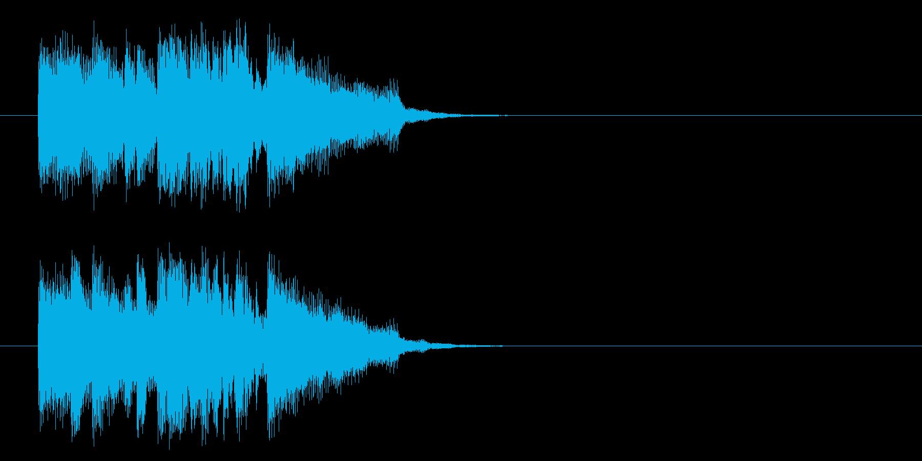 ジングル(軽やかポップ・フュージョン)の再生済みの波形