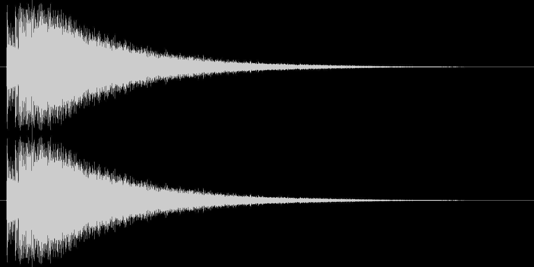ド、チャーン(ドラム音)の未再生の波形