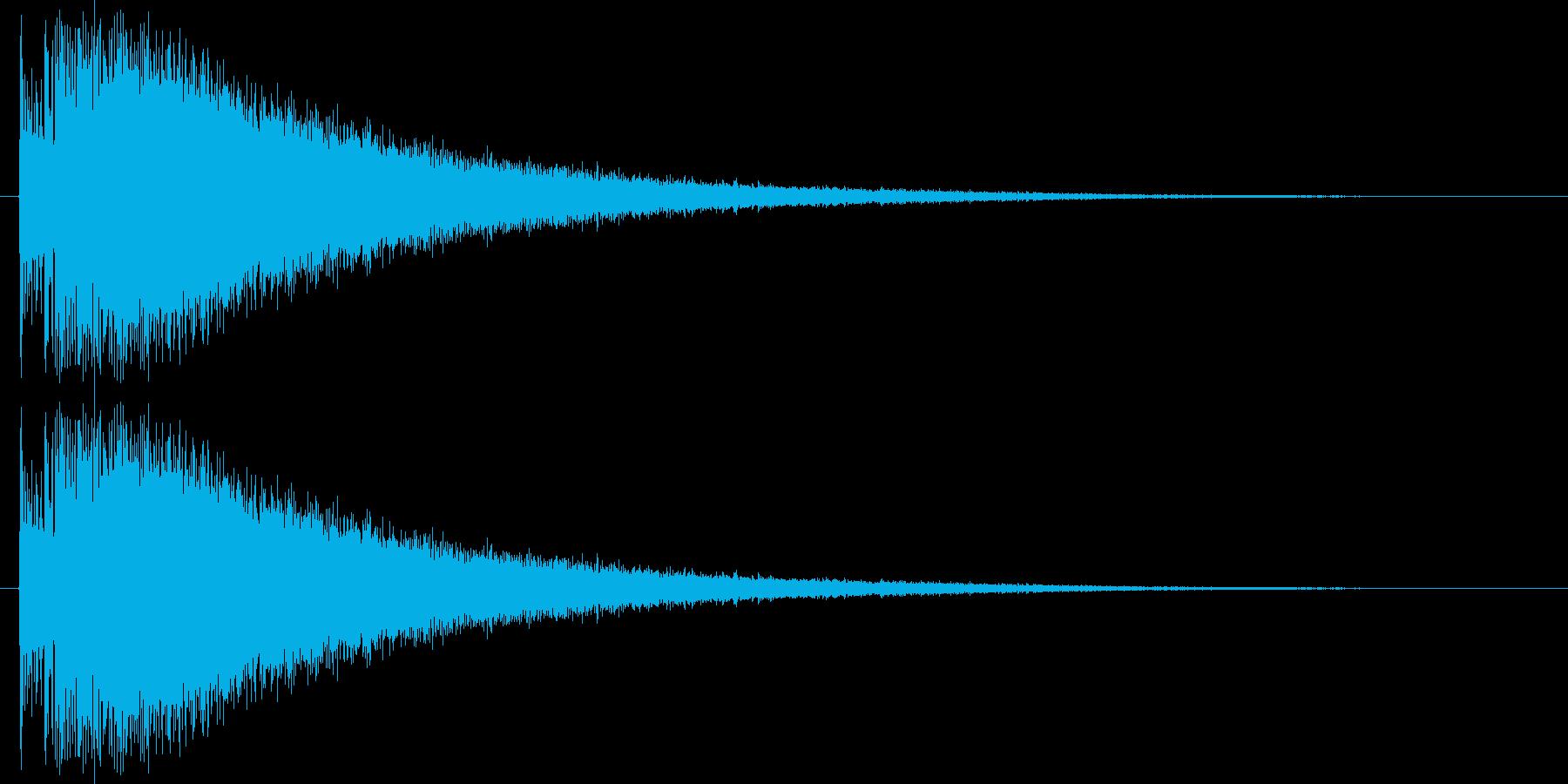 ド、チャーン(ドラム音)の再生済みの波形