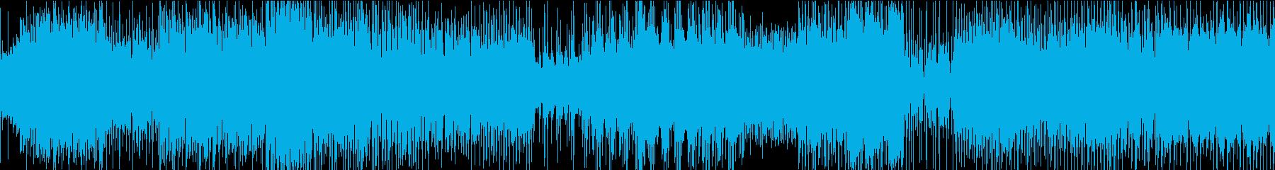 シンプルなアンビエント・テクノの再生済みの波形