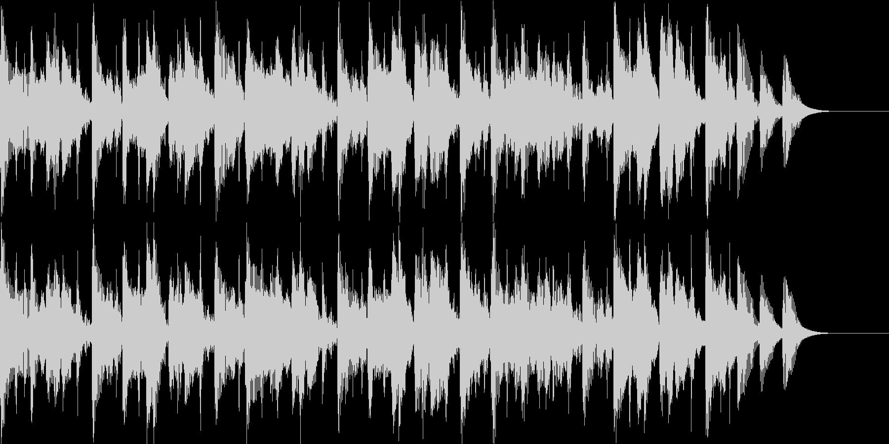 テクノのような雰囲気のBGMの未再生の波形