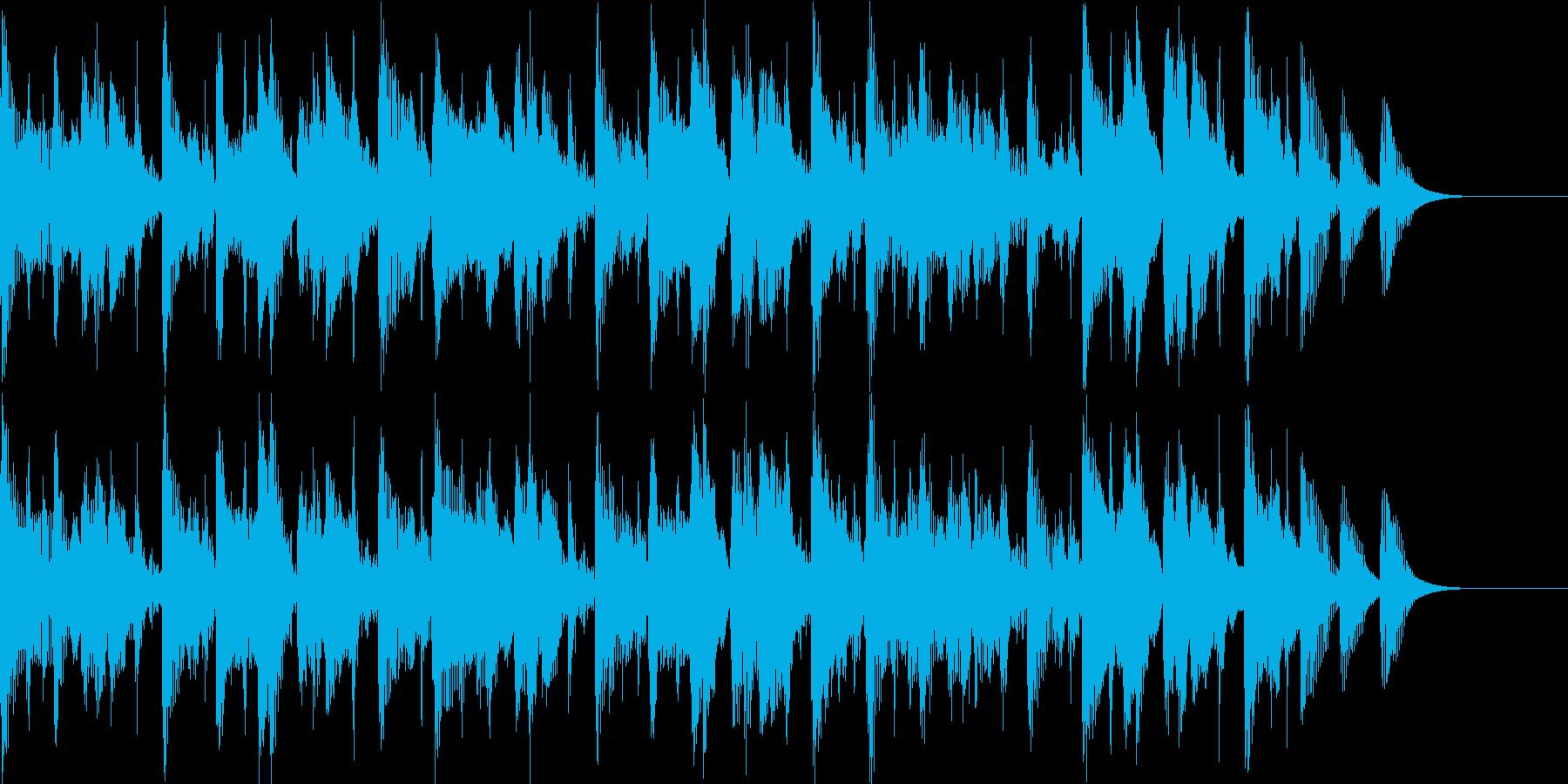 テクノのような雰囲気のBGMの再生済みの波形