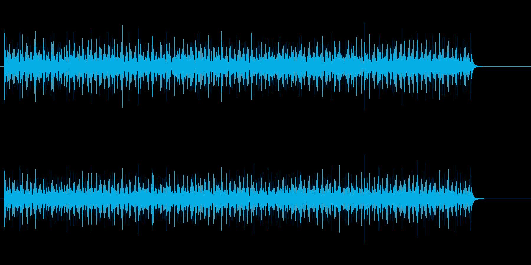 コミカルなパーカッションアンサンブルの再生済みの波形
