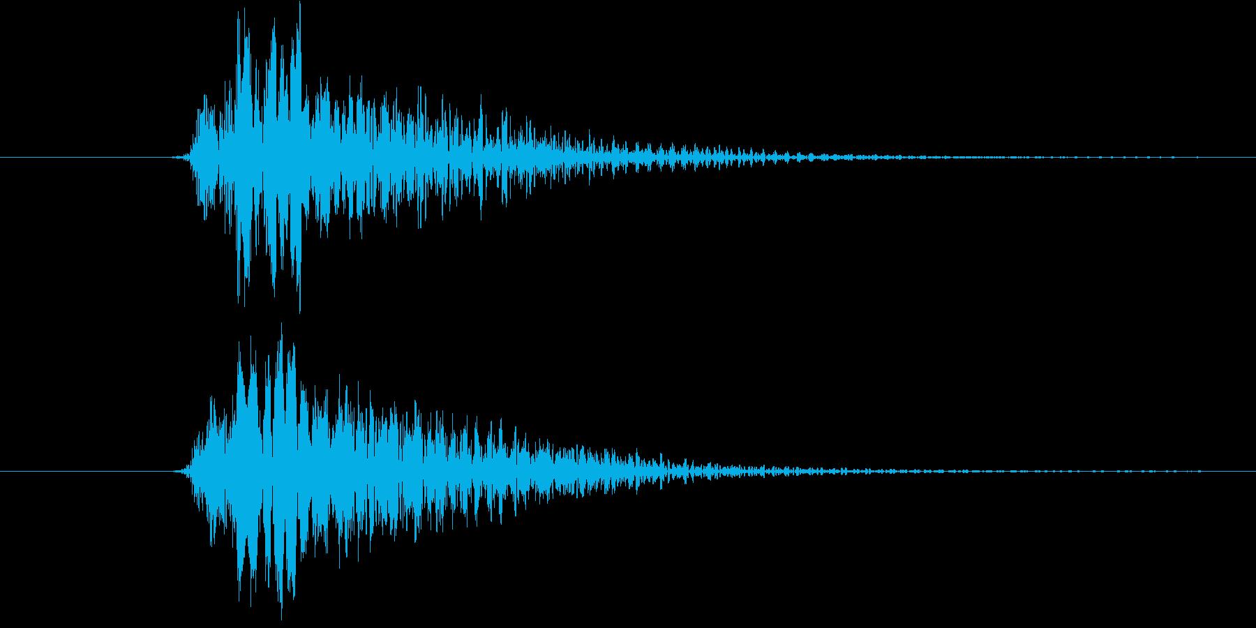 ブン(決定、ゲーム)の再生済みの波形