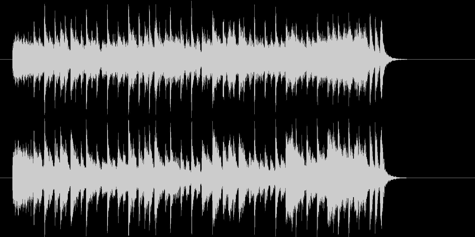 爽やかで明るいシンセサイザーサウンド短めの未再生の波形