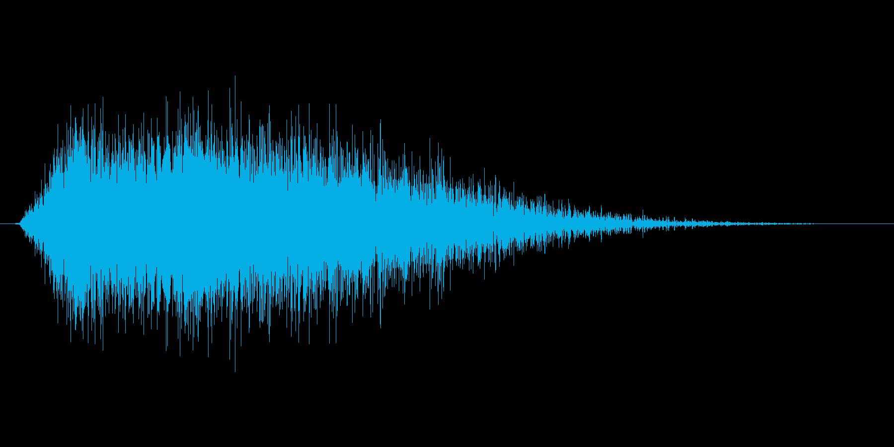 戦闘時に敵のステータスを下げる 下降音の再生済みの波形