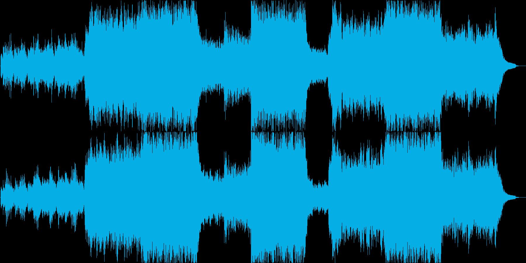 幻想的で壮大なバイオリンのシネマ楽曲の再生済みの波形